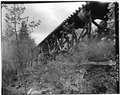 SIDE VIEW OF TYPICAL SECTION OF FLUME SUPPORTED BY TRESTLE-1980 - Power Flume No. 1, Tacoma, La Plata County, CO HAER COLO,33-TAC.V,3-14.tif