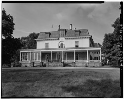 SOUTHWEST FRONT, LOOKING NORTHEAST - La Bergerie, River Road, Barrytown, Dutchess County, NY HABS NY,14-BARTO.V,2-9.tif