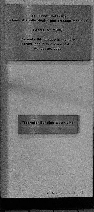 Tulane University School of Public Health and Tropical Medicine - Water Line