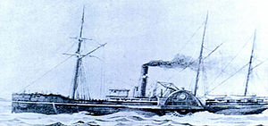 SS Pacific, from a drawing commissioned early in its career.