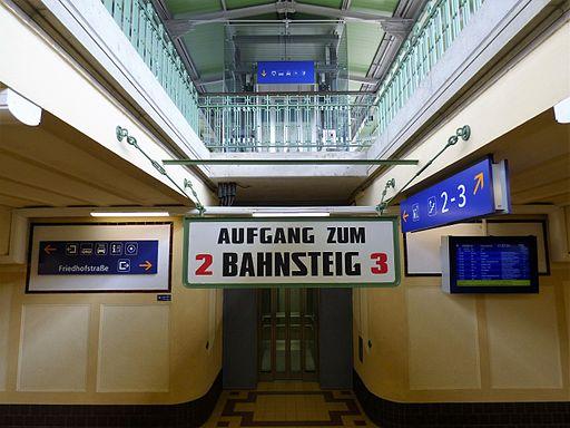 SV Unterführung Bahnsteige