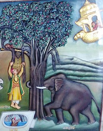 Saṃsāra - Symbolic depiction of Saṃsāra at Shri Mahaveerji temple of Jainism.