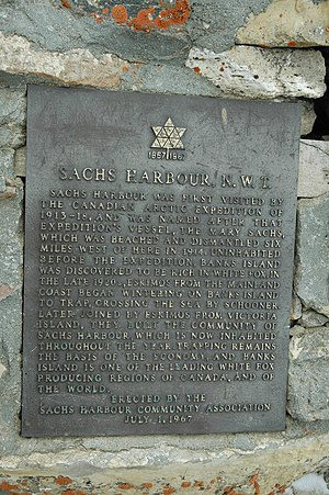 Sachs Harbour - Plaque