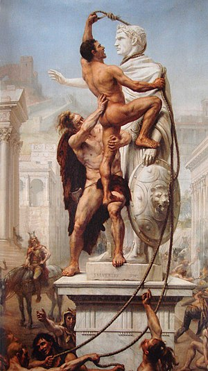 Alaric I - The Sack of Rome by the Visigoths on 24 August 410 by J-N Sylvestre (1890)