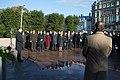 Saeimas priekšsēdētāja piedalās restaurētā Brīvības pieminekļa atklāšanā (37757911142).jpg