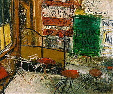 """""""Café Terrace with Posters"""""""