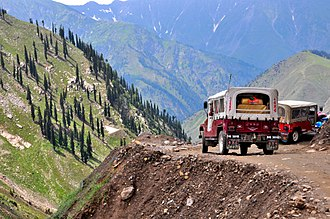 Saiful Muluk - The road to the lake traverses the mountains of the Kaghan Valley