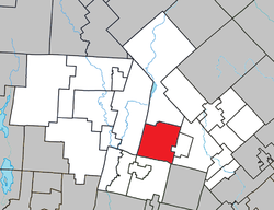 Location within Les Laurentides RCM.