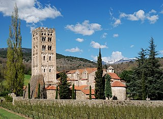 Abbey of Saint-Michel-de-Cuxa abbey located in Pyrénées-Orientales, in France