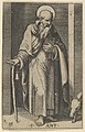 Saint Anthony, a staff in his right hand, from the series 'Piccoli Santi' (Small Saints) MET DP853498.jpg