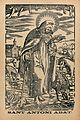 Saint Antony Abbot. Reproduction of a woodcut. Wellcome V0048145.jpg