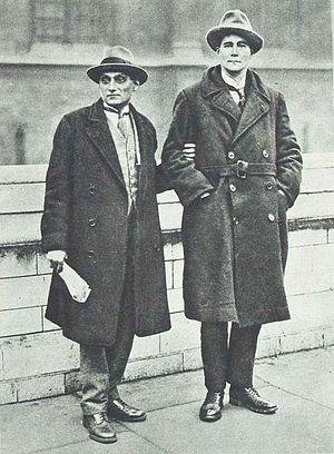 Walton Newbold - Newbold (on right) in 1922, with Shapurji Saklatvala.