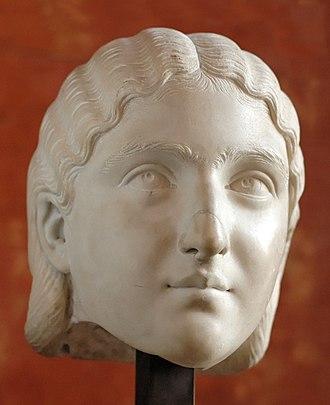 Sallustia Orbiana - Marble head of Orbiana