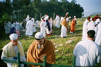 Samaritans atop Mount Gerizim in 2006.
