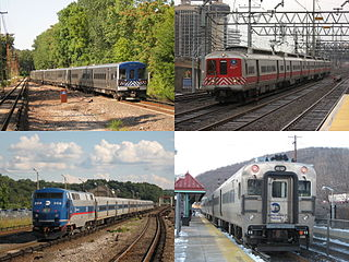 Metro-North Railroad commuter rail service in New York and Connecticut