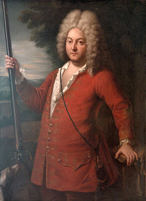 Samuel Bernard - Portrait of  Samuel Bernard by Nicolas Mignard. The picture hangs in the Palace of Chenonceaux in France.
