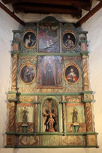 San Miguel Mission - Image: San Miguel Mission Santa Fe Altar