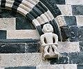 San michele di murato, facciata, con rilievi del 1140 ca. 15 figura con bastone, forse un giudice.jpg