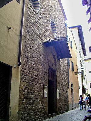 Santa Margherita de' Cerchi - Entrance portal of Chiesa di Santa Margherita de'Cerchi.