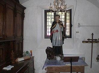 St. Bernard (dog) - Statue of Bernard of Menthon in Ascona (GE), Italy.