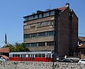 Sarajevo - old building and tram Vienna type E.JPG