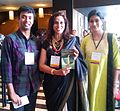 Satyarth with Shobha De at Bangalore Lit Fest 2014.jpg