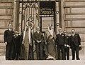 Saud of Saudi Arabia with officials C.1932-1960S 2.jpg