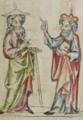 Sbs-0008 028v Zachäus fordert Joseph auf, Jesus zu ihm in die Schule zu schicken.TIF