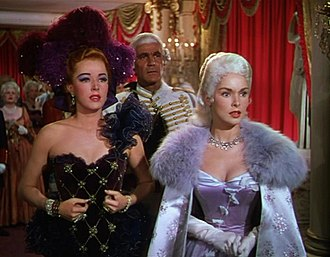 Scaramouche (1952 film) - L-R: Eleanor Parker, Henry Wilcoxon and Janet Leigh