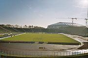 Parkstadion mit der neuen Arena im Hintergrund