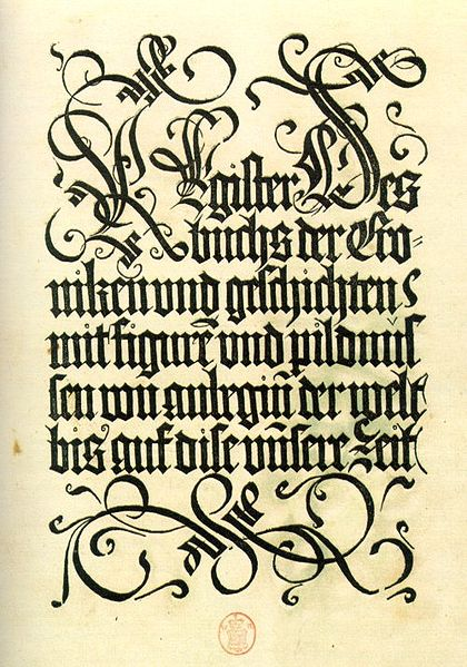 early fraktur script
