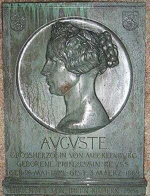 Princess Augusta Reuss of Köstritz - Augusta Memorial at Schwerin.