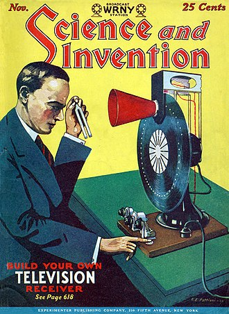 Invention - 'BUILD YOUR OWN TELEVISION RECEIVER.' Science and Invention magazine cover, November 1928