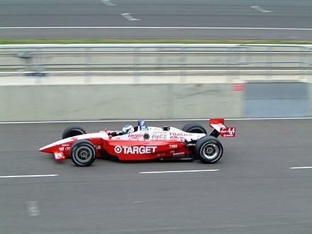 Dixon in his first year with Chip Ganassi Racing in CART. Scott Dixon - 2002 Sure For Men Rockingham 500 (1).jpg