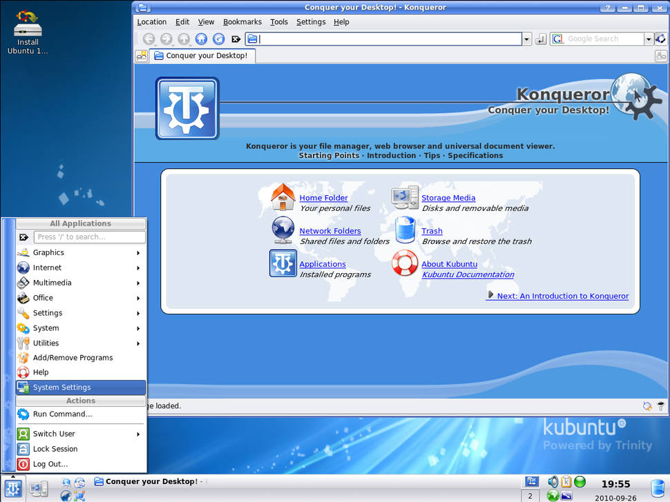 Screenshot of Trinity 3.5.12