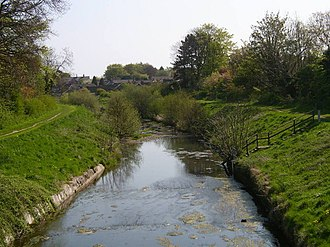 Sea Cut (Scalby Beck) - Image: Sea Cut looking towards Scalby geograph.org.uk 222990