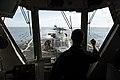 Sea Hawk is tracked aboard USS Preble. (9352358718).jpg