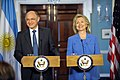 Secretary Clinton Holds a Joint Press Availability With Argentine Foreign Minister Timerman (4883257648).jpg