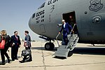 Secretary Kerry Disembarks From a C-17 Aircraft Upon Arrival in Baghdad (26031571060).jpg