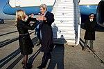 Secretary Kerry Prepares to Embrace Ambassador Hartley Upon Arrival to Paris (31364419382).jpg