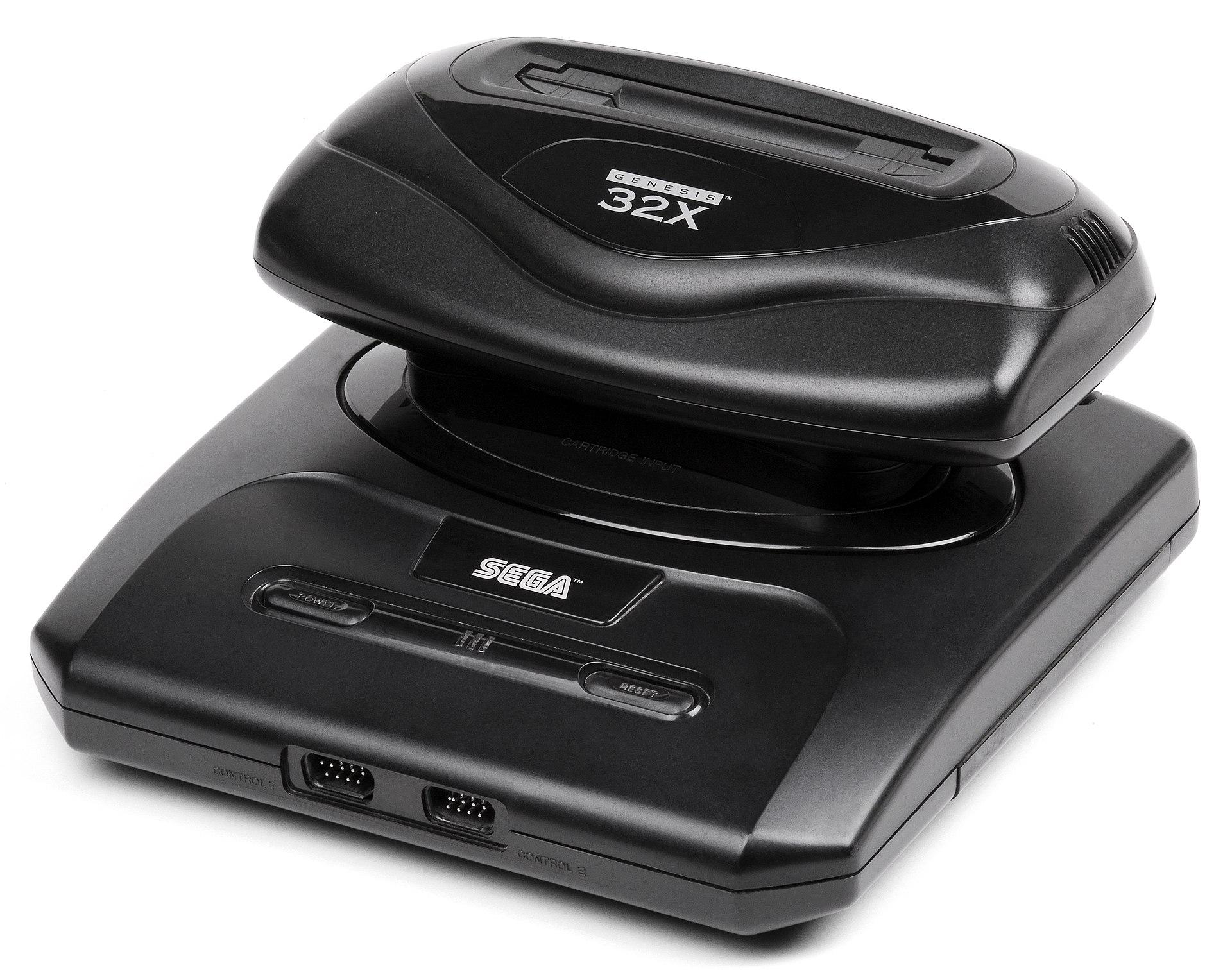 Sega 32X aangesloten op een Mega Drive II
