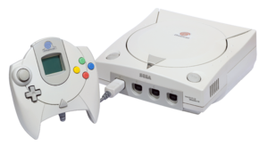 English: An NTSC Sega Dreamcast Console and PA...