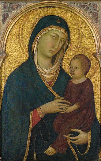 Segna di Bonaventura - Madonna and Child, painting by Segna di Bonaventura, c. 1325-30, Honolulu Museum of Art