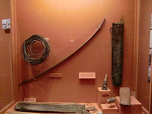 Selk'nam people - bow and arrows