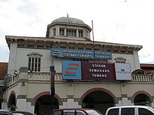 Semarang Tawang station outside.jpg
