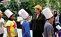 Senator Stabenow congratulates Sheiko Elementary School students who graduated from the Farmer or Chef for a Day Program. (14332712245).jpg