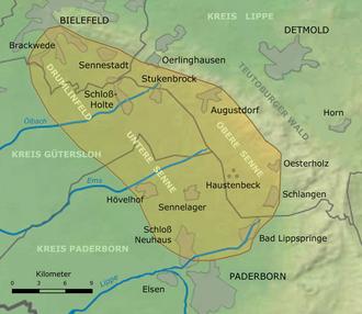 Senne - Map of the Senne
