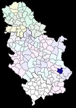 mapa srbije smederevska palanka Opština Bela Palanka   Wikipedia mapa srbije smederevska palanka