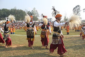 Dhoti - Indian folk dancers dressed in dhotis
