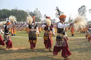Dhoti - Indian folk dancers dressed in dhotis